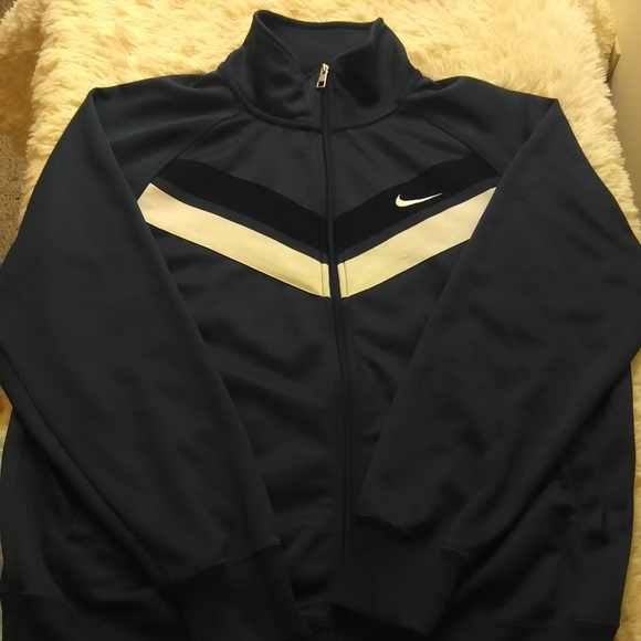 7e5e8b9b2c5d Nike jacket men xl full zip mock neck navy blue.  M 5a5b055ca6e3ea3797f0d1fa. Other Jackets   Coats ...